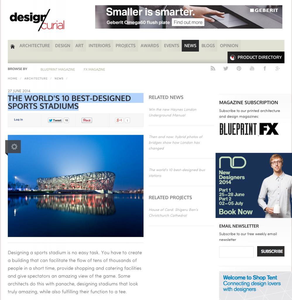 veja a materia no site Design Curial